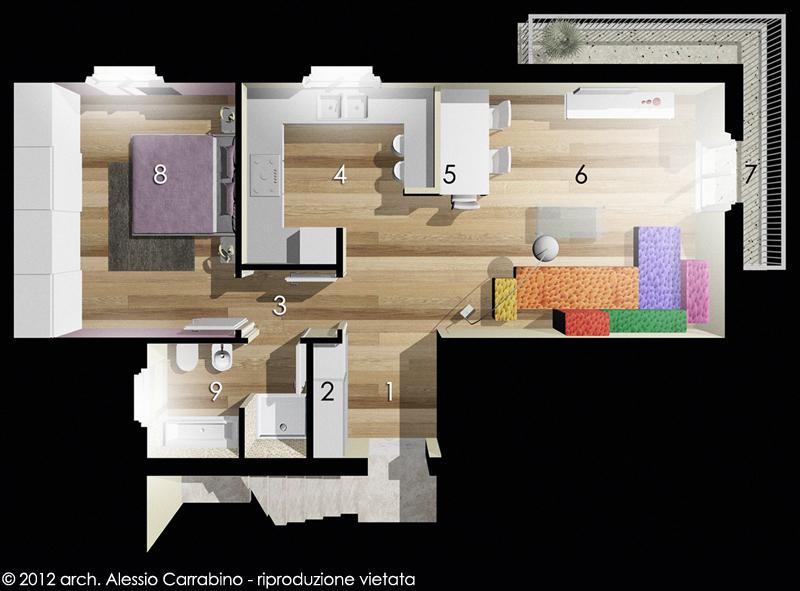 Cucina soggiorno open space progetto ~ neburisky.net