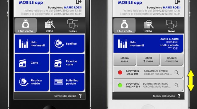 Grafica per applicazione mobile banking