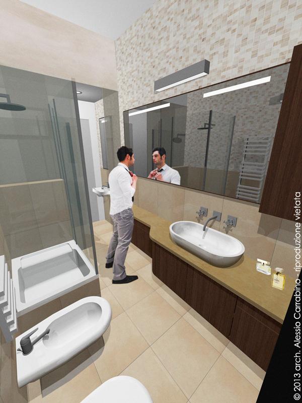 Render bagno 1 architetto consiglia - Progetto bagno piccolo ...