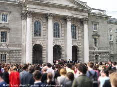 Cerimonia in Parliament Square.