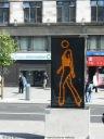 Installazioni di Julian Opie nello spartitraffico pedonale di O' Connell Street.
