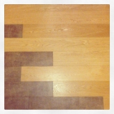 Parquet and porcelain flooring
