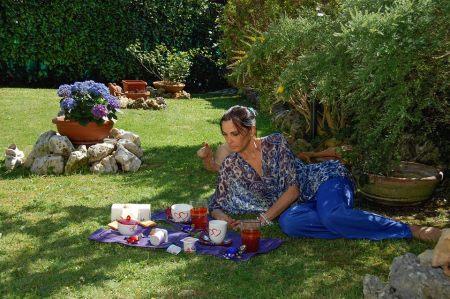 L'abitazione di Nina Soldano, il giardino