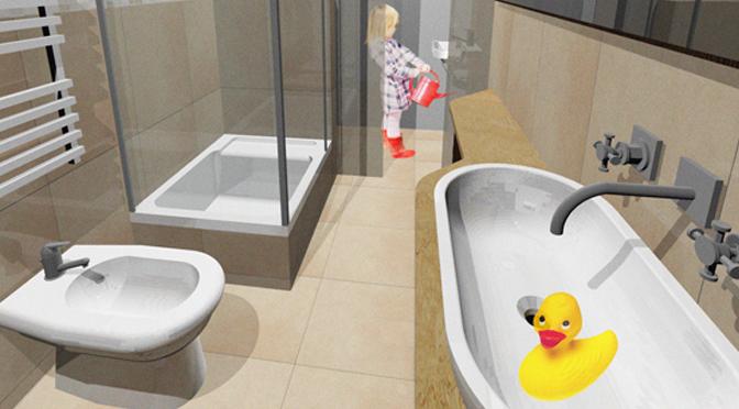 Progetto di ristrutturazione di un piccolo bagno architetto