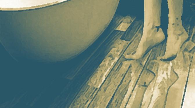 Pavimento in laminato nel bagno