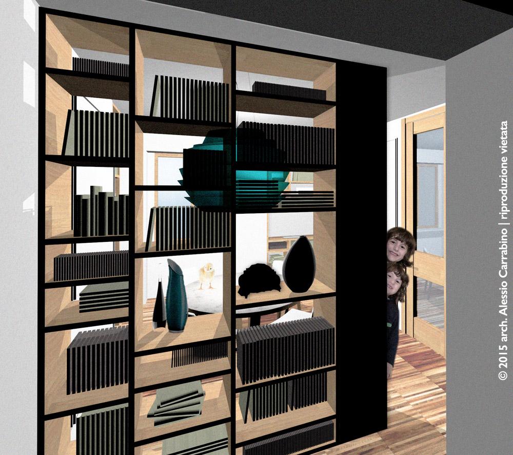Libreria come elemento divisorio architetto consiglia for Consigli architetto