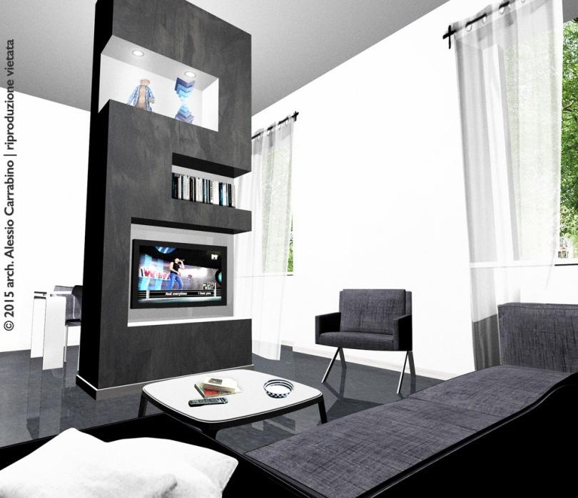 struttura in cartongesso nel soggiorno | architetto consiglia - Faretti Nel Soggiorno