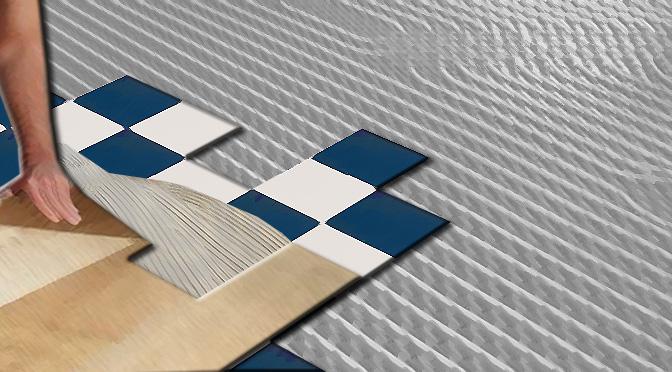 Nuova posa su pavimento esistente con riscaldamento a pavimento