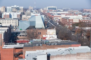 Aerial view of the Institute for Contemporary Art at VCU. Image credit: Iwan Baan.