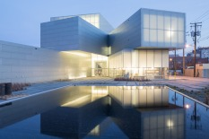 View of the Institute for Contemporary Art at VCU Garden at dusk. Image credit: Iwan Baan.