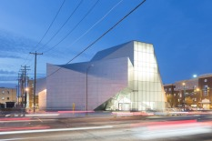 View of the Institute for Contemporary Art at VCU from Belvidere Street at dusk. Image credit: Iwan Baan.